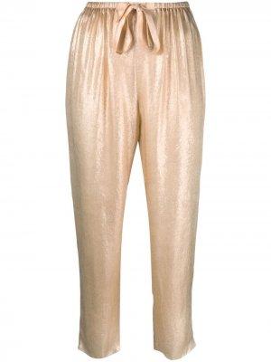 Укороченные брюки прямого кроя Forte. Цвет: золотистый