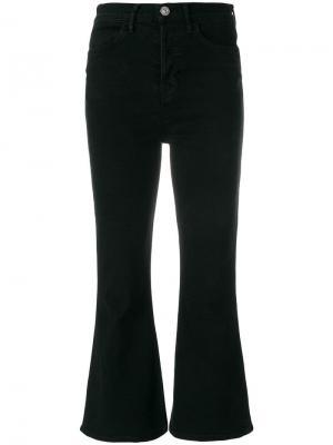 Расклешенные укороченные джинсы Hudson. Цвет: черный