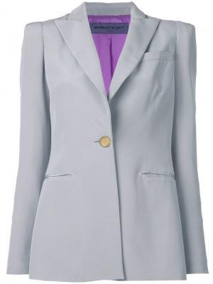 Пиджак с заостренными отворотами Emanuel Ungaro Pre-Owned. Цвет: серый