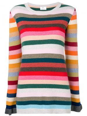 Striped sweater Allude. Цвет: красный