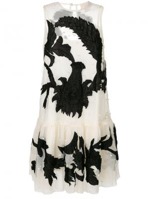 Платье из тюля без рукавов Aniye By. Цвет: белый