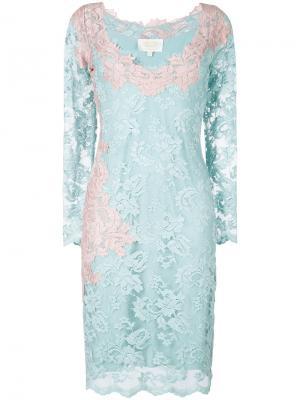 Кружевное платье Olvi´S. Цвет: синий