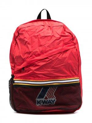 Рюкзак с логотипом K Way Kids. Цвет: красный