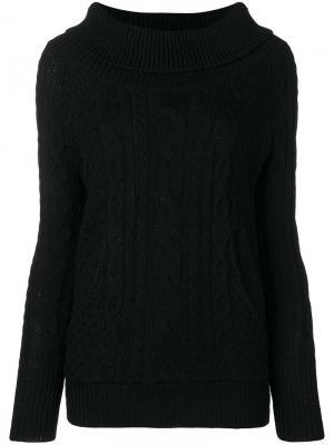Трикотажный свитер Woolrich. Цвет: черный