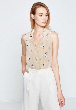 Рубашка Koton. Цвет: коричневый