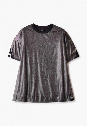 Платье DKNY. Цвет: серебряный