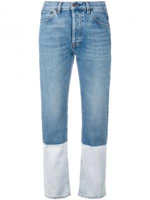 Укороченные джинсы с клешем ниже колена Ports 1961. Цвет: синий