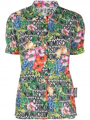 Пижама с цветочным принтом и логотипом Moschino. Цвет: зеленый