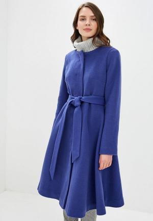 Пальто Pepen. Цвет: синий