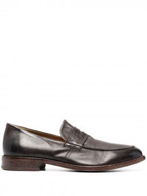 Пенни-лоферы с миндалевидным носком MOMA. Цвет: коричневый