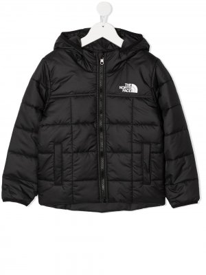 Пуховик с логотипом The North Face Kids. Цвет: черный