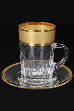 Чайная пара 110 мл, 6 пар Bohemia. Цвет: прозрачный