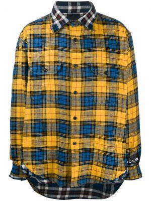 Рубашка в клетку COOL T.M. Цвет: желтый