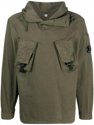 Анорак с капюшоном C.P. Company. Цвет: зеленый