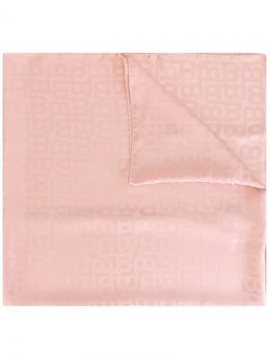Шарф с тональным узором Bally. Цвет: розовый и фиолетовый