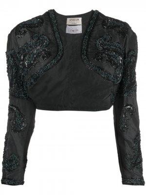 Болеро 1990-х годов с вышивкой пайетками A.N.G.E.L.O. Vintage Cult. Цвет: черный