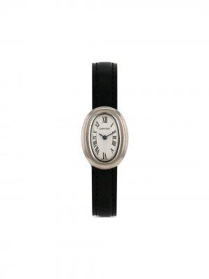 Наручные часы Baigonoir pre-owned 20 мм 1990-х годов Cartier. Цвет: белый
