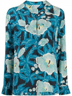 Рубашка с цветочным принтом Equipment. Цвет: синий