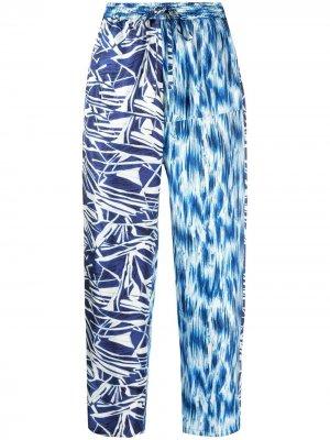 Прямые брюки с принтом Pierre-Louis Mascia. Цвет: синий