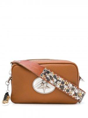 Декорированная сумка на плечо Golden Goose. Цвет: коричневый