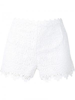 Кружевные шорты Charo Ruiz. Цвет: белый