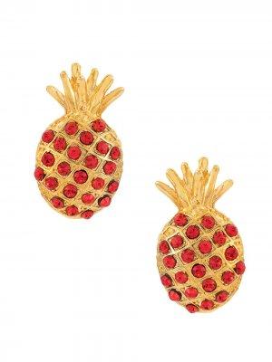 Abacaxi earrings Eva. Цвет: золотистый