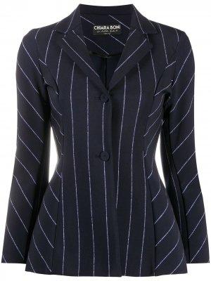Пиджак Fedora узкого кроя Le Petite Robe Di Chiara Boni. Цвет: синий