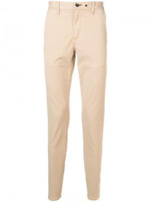 Классические брюки кроя слим Rag & Bone. Цвет: нейтральные цвета
