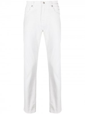 Прямые джинсы 7 For All Mankind. Цвет: белый