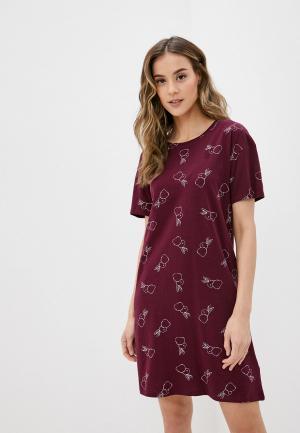 Сорочка ночная Marks & Spencer. Цвет: бордовый