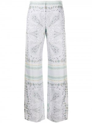 Прямые брюки с принтом Conchiglie Emilio Pucci. Цвет: фиолетовый