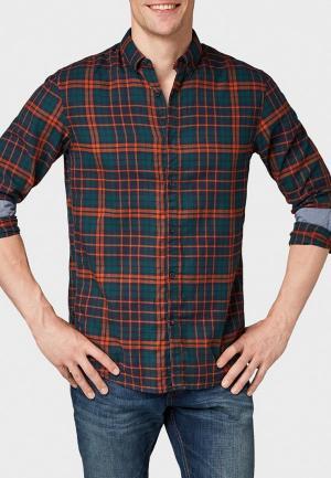 Рубашка Tom Tailor Denim. Цвет: зеленый