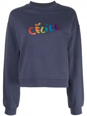 Толстовка с логотипом Être Cécile. Цвет: синий