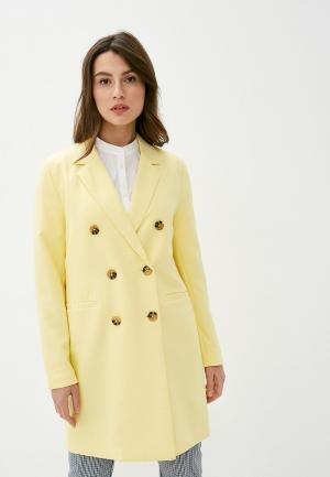 Пальто Ichi. Цвет: желтый