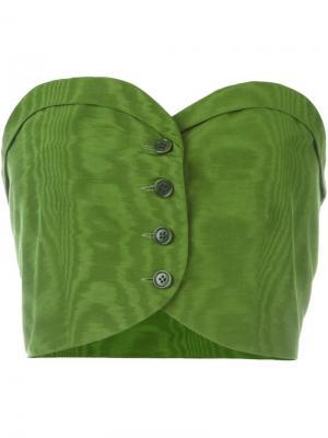 Топ-бюстье на пуговицах Romeo Gigli Vintage. Цвет: зеленый