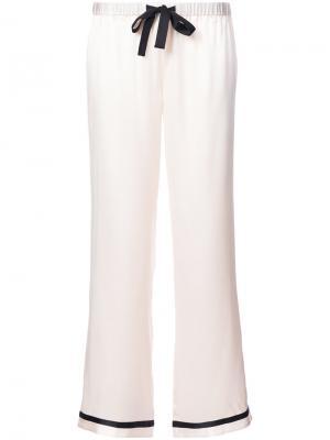 Пижамные брюки с контрастной отделкой Morgan Lane. Цвет: розовый