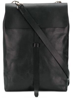 Long satchel bag Ann Demeulemeester Blanche. Цвет: черный