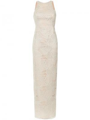 Кружевное вечернее платье Tufi Duek. Цвет: var1