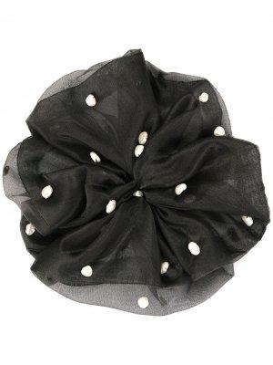 Резинка для волос с жемчугом Le Chic Radical. Цвет: черный