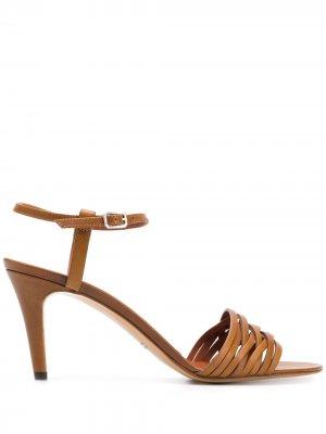 Плетеные босоножки Michel Vivien. Цвет: коричневый