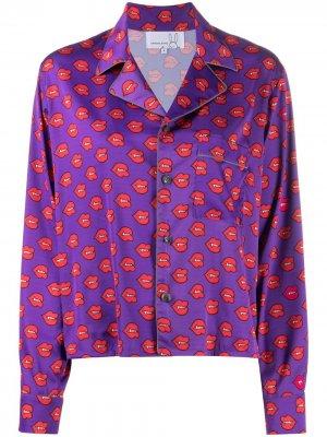 Пижамный топ с принтом Natasha Zinko. Цвет: фиолетовый