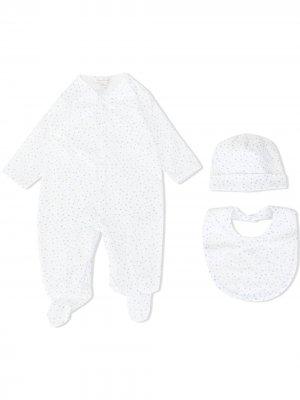 Комплект для новорожденного с принтом Kissy. Цвет: белый