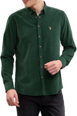 Рубашка U.S. POLO ASSN.. Цвет: vr027 темно-зеленый