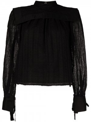 Блузка с английской вышивкой Isabel Marant. Цвет: черный