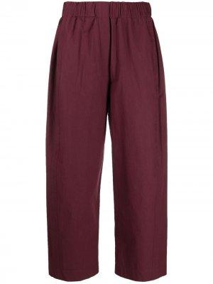 Укороченные брюки с эластичным поясом Alysi. Цвет: красный