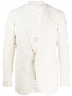 Однобортный пиджак с лацканами-шалькой LANVIN. Цвет: белый