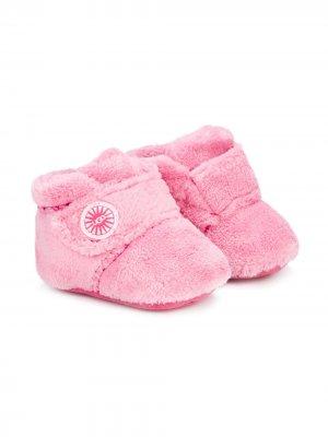 Плюшевые короткие ботинки UGG Kids. Цвет: розовый