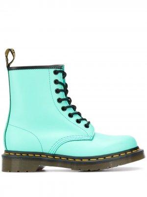 Ботинки на шнуровке Dr. Martens. Цвет: зеленый