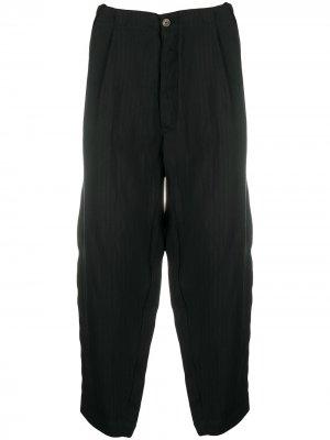 Прямые брюки в полоску Société Anonyme. Цвет: черный