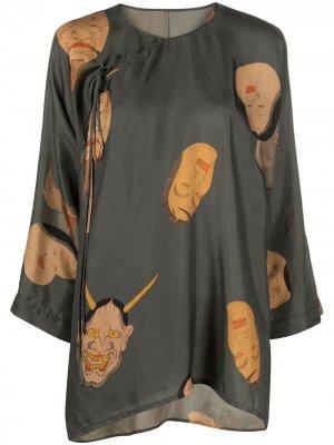 Блузка с принтом Uma Wang. Цвет: зеленый